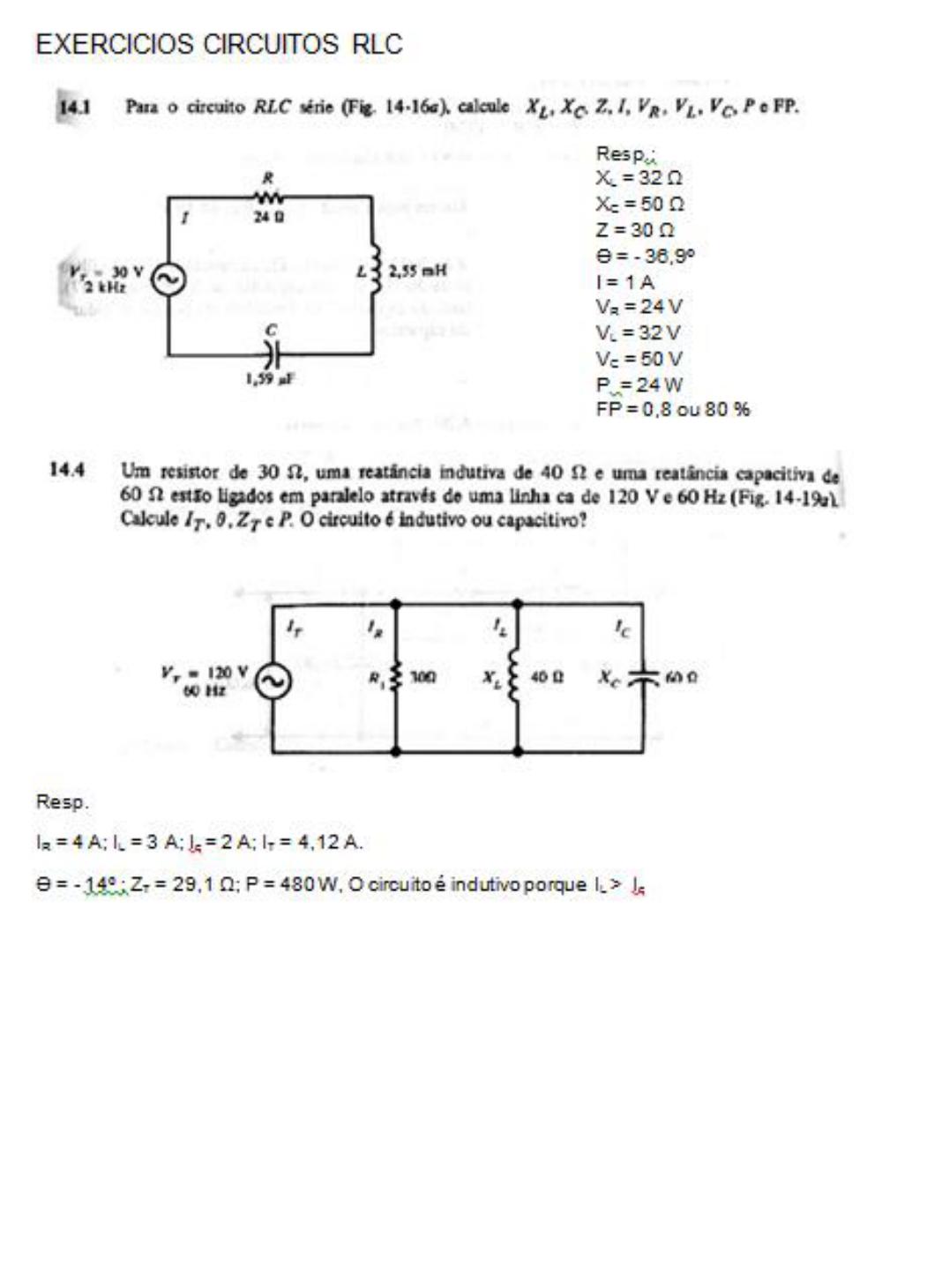 Exercicios circuitos rlc eletrotcnica e instalaes eltric pr visualizao2 pginas ccuart Gallery