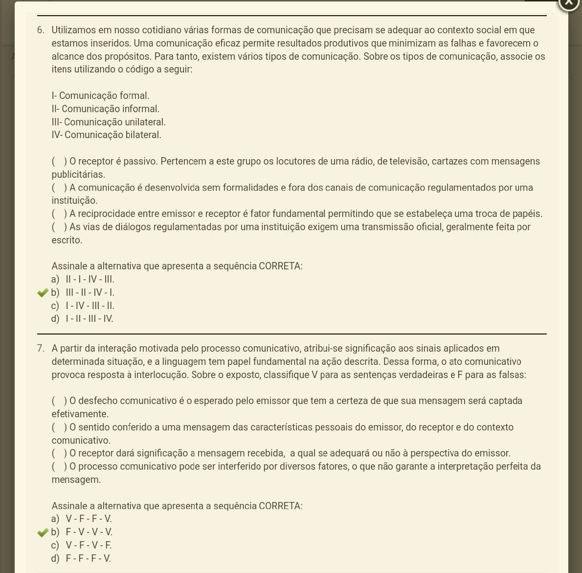 prova 1 uniasselvi comunicação e linguagem - Português