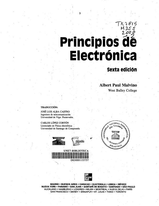 solucionario principios de electronica malvino