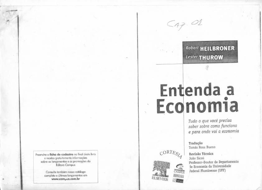 heilbroner thurow economia