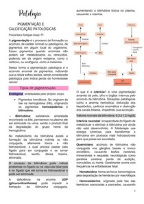 PIGMENTAÇÃO E CALCIFICAÇÃO PATOLÓGICA