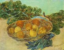 Vincent Willem van Gogh-ainda-vida-com-laranjas-limões-e-Azul-Gloves