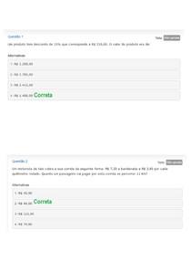 Avaliação Diagnóstica - Curso de Nivelamento - Etapa 1 - Matemática