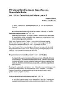 aula 4 - Princípios Constitucionais Específicos da Seguridade Social art 195 parte 2