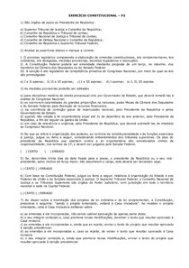 EXERCÍCIO CONSTITUCIONAL   p2