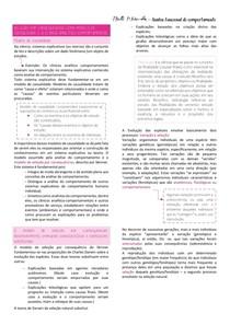 Resumo Analise funcional do comportamento;SELEÇÃO POR CONSEQUENCIAS COMO MODELO DE CAUSALIDADE E A CLÍNICA ANALÍTICO-COMPORTAMENTAL