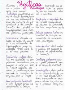 Práticas da psicologia
