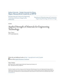 Applied Strength of Materials for Engineering Technology