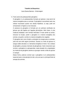 Glicogênio - Estrutura e Funções