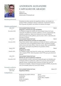 Currículo -Anderson Alexandre Carvalho de Araújo
