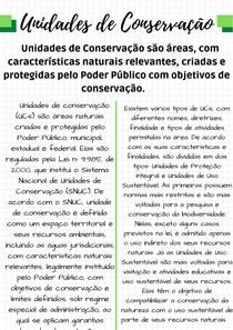 Resumo sobre Unidades de Conservação