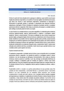 RESUMO DE ANATOMIA - FUNÇÕES BIOLÓGICAS
