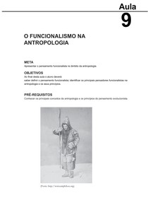 Antropologia I - aula09 Funcionalismo (CESAD-UFS)