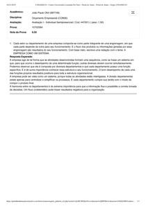 Orçamento Empresarial Prova 1