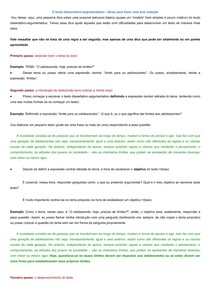 O Texto Dissertativo Argumentativo Passo A Passo Gramática