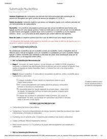 Substituição Nucleofílica, Química Orgânica - Resumo