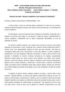 Resumo do texto resumo acadêmico