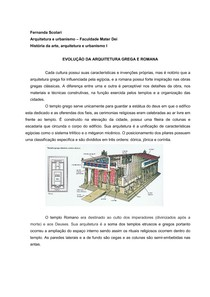 Evolução da arquitetura grega e romana