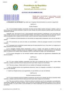 Mar Territorial Decreto LEI Nº 8.617, DE 4 DE JANEIRO DE 1993