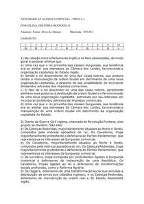 Atividade Avaliativa Especial - História Moderna II Prova 1 RESOLVIDA docx