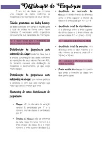 Resumo tópico 1 (Unidade 2) - Estatística UNIASSELVI