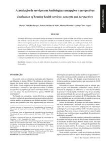 A avaliação de serviços em Audiologia   concepções e perspectivas