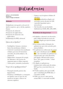 Aula - DIslipidemias (endócrino)