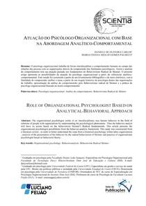 ATUACAO DO PSICOLOGO ORGANIZACIONAL COM BASE NA ABORDAGEM ANALITICO COMPORTAMENTAL