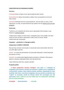 Caracteristicas de Paragrafo Padrão
