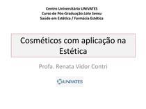 Cosméticos com aplicação na estética - Anatomia Humana - 4 07cdec1b61