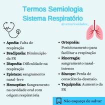 Termos Anamnese Sistema Respiratório