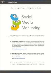 Ferramentas de Monitoramento e Análise de Redes Sociais