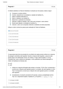 Atividade para avaliação - Semana 6 - ESTATÍSTICA - MEE001