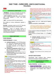 Resumo - OAB - Direito Constitucional