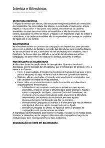 Fisiologia da Icterícia e Metabolismo das Bilirrubinas
