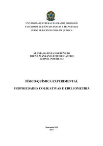 Relatório Físico-Química Experimental