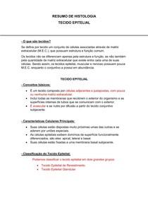 Resumo Tecido Epitelial.pdf