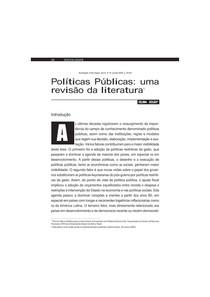 17Souza - Políticas públicas uma revisão da literatura