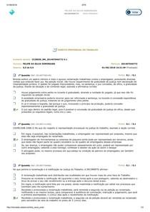 AVALIANDO APRENDIZADO DE DIREITO PROCESSUAL DO TRABALHO CICLO 2