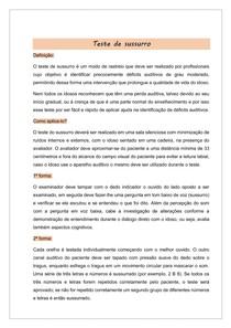Teste de sussurro - ESCALA DEPRESSÃO GERIATRICA