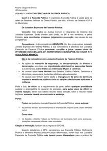 AULA 01- Juizados Especiais da Fazenda Pública - Curso Estágio TJMG