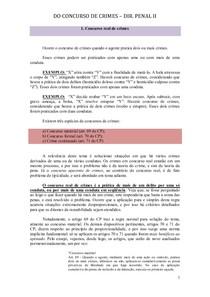 DO CONCURSO DE CRIMES - SANDRA
