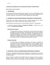CONCEITOS BASICOS ADMINISTRACAO FINANCEIRA