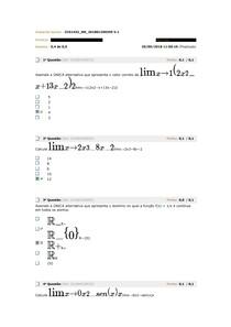 Avaliando calculo I