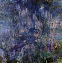Water Lilies Reflection Of A Weeping Willow-Claude Monet