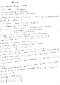 Resumo Álgebra Linear - Terceiro Estágio