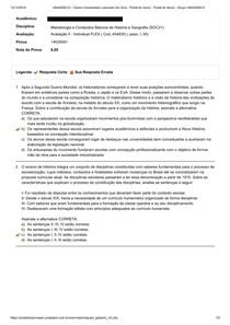 Avaliação II - Individual - FLEX - Metodologia e Conteúdos Básicos de História e Geografia (SOC21)