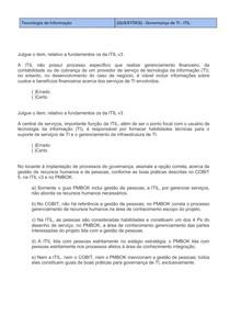 [QUESTÕES] - Governança de TI - ITIL