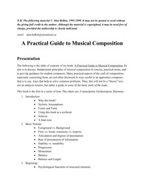 alan belkin a practical guide to musical composition compo rh passeidireto com Dramatic Musical Composition Music Comp