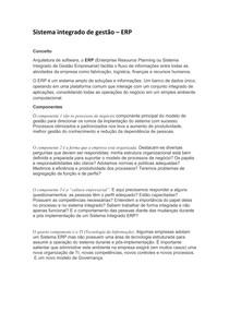 Sistema integrado de gestão- ERP